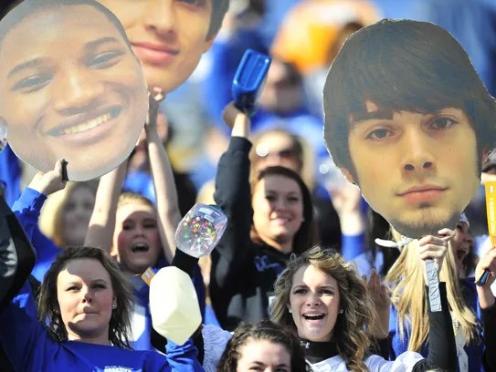 Gordonsville fans cheer on their team during the 2012