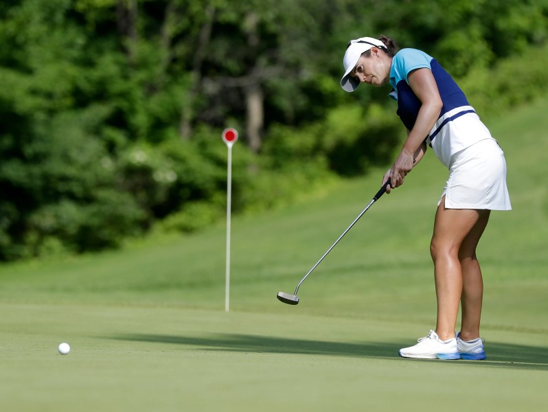 Thornberry Creek LPGA Classic Green Bay Packers golf Lambeau Field LPGA golfer Beatriz Recari of Spain participates in