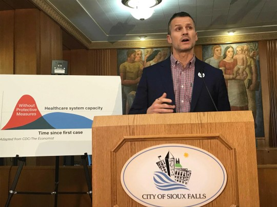 Mayor Paul TenHaken of Sioux Falls, S.D., is going ahead with a city-wide shelter-in-place ordinance, now that Gov. Kristi Noem has rejected his request to issue a county-wide order.
