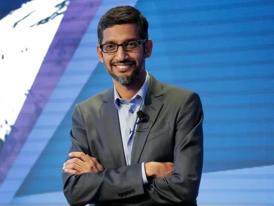 Google CEO Sundar Pichai in Davos, Switzerland, on Jan. 24, 2018.