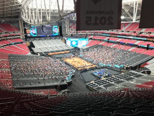 Section 433, Row 22, Seats 16-19: At $275, this was
