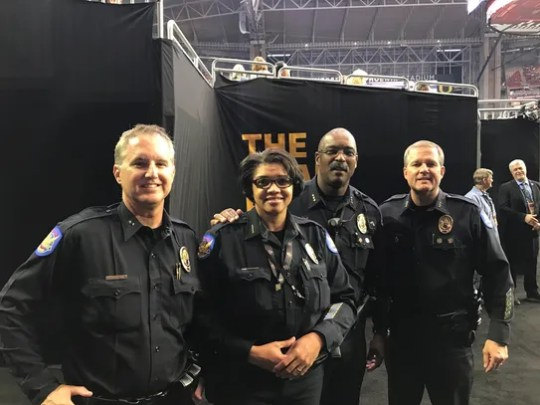 Phoenix Police Chief Jeri Willians (second from left)