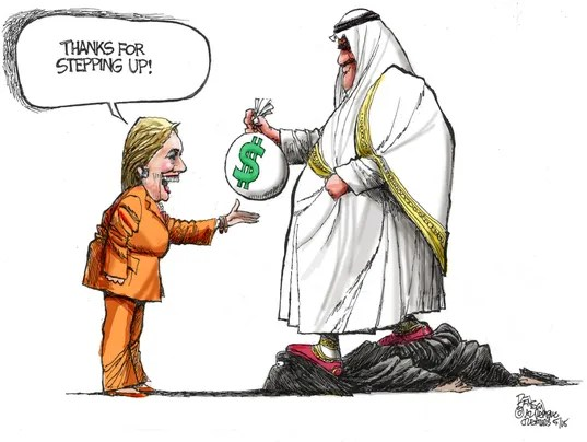 Image result for clinton takes saudi money