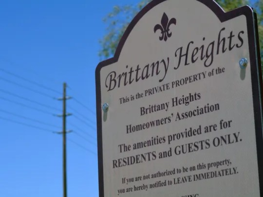 Residents of Brittany Heights are concerned about the
