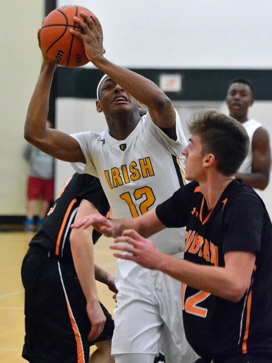 York Suburban vs York Catholic boys' basketball