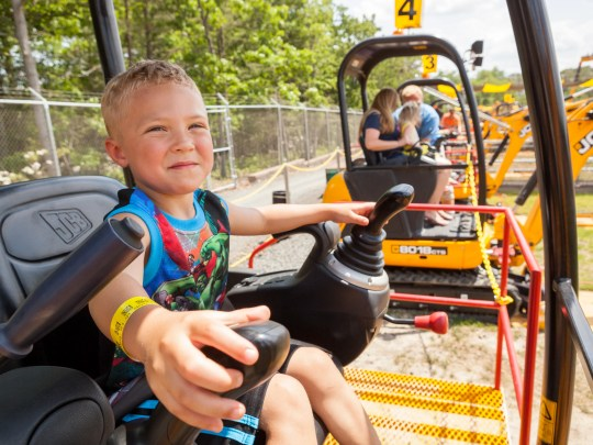 Kids are in the driver's seat of real modified construction