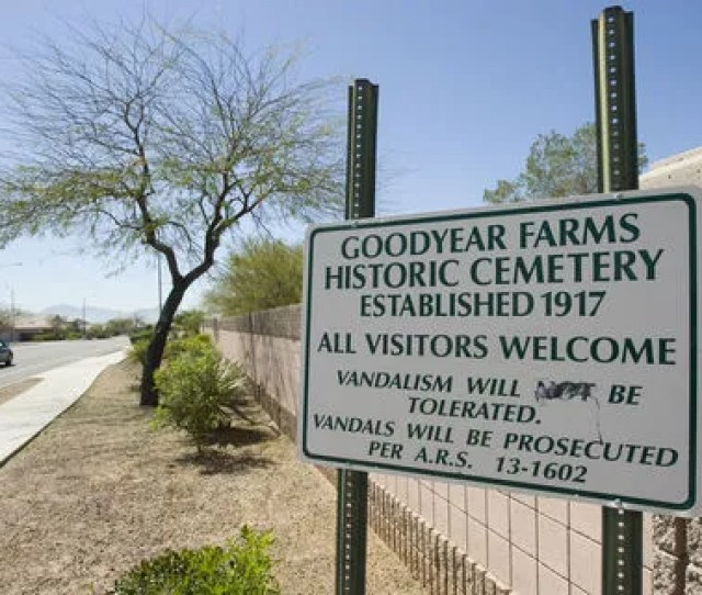 Pioneer Cemetery Also Called Goodyear Farms Historic