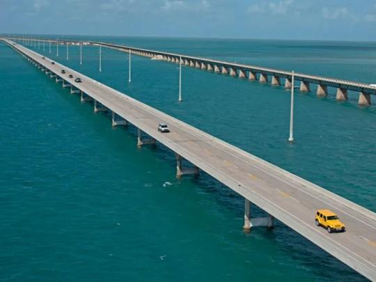 Traffic rolls on the Florida Keys Overseas Highway's