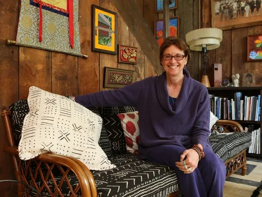 """When Kristi Zea moved to her hilltop home in Valley Cottage in 2004, she says, """"I realized that it was really kind of perfect."""" (Photo: Mark Vergari/The Journal News)"""