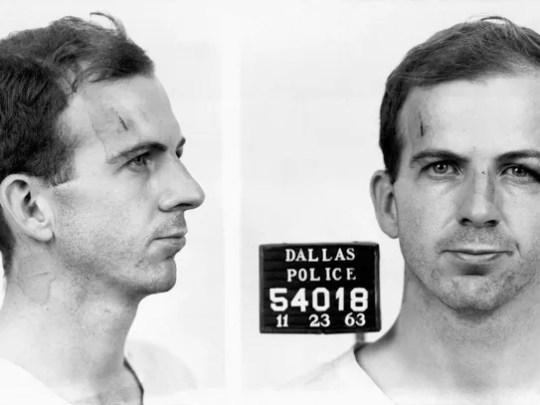 This is Lee Harvey Oswalds mug shot, taken after his