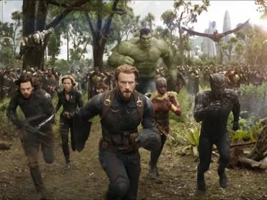 "A scene from ""Avengers: Infinity War.""  A Comcast win for Fox assets would spell disappointment for Marvel fans who may have looked forward to an X-Men mash-up film with The Avengers (Fox owns the rights to X-Men, Deadpool, and the Fantastic Four.)"