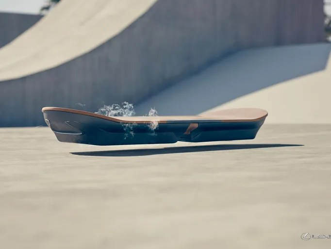 Lexus says it has created a hoverboard. Here is it
