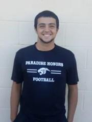 Brandon Brown, senior running back and linebacker from