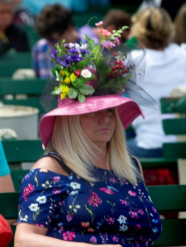 Opening Day of Horseracing at Monmouth Park brought out the crowds and celebrators since it's also Kentucky Derby Day.