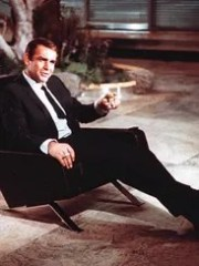 Sean Connery is shown as James Bond during the filming