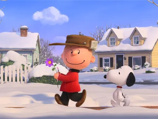 Charlie Brown and his best beagle pal Snoopy enjoy