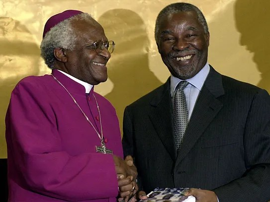 African Archbishop Desmond Tutu hands over the Truth