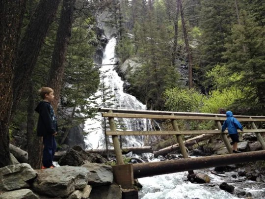 The hike to Pine Creek Falls is a favorite among locals and tourists in the Absaroka Mountains, Paradise Valley.