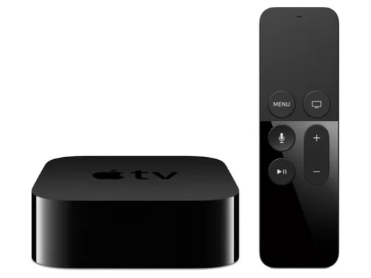 The new Apple TV Net TV set-top box and remote.