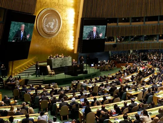 Trump speaks during the United Nations General Assembly