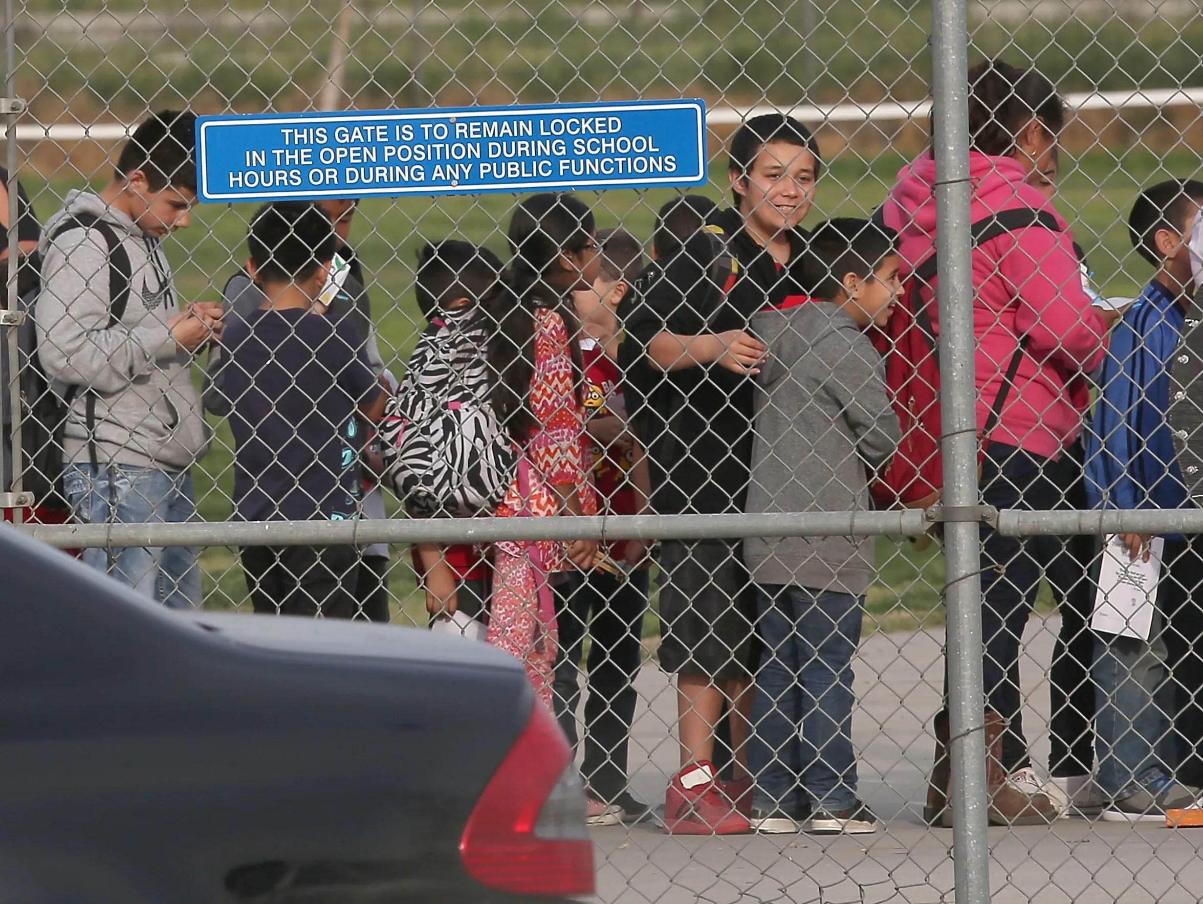 Children at Orange Center Elementary School in Fresno,