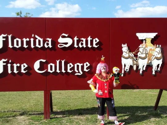 Ember, the Titusville fire safety clown.