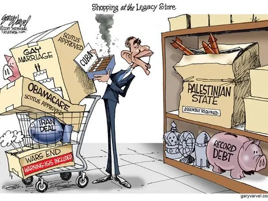 Image result for cartoons obama legacy