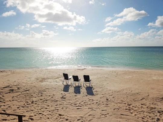 Beach on the island of Barbuda