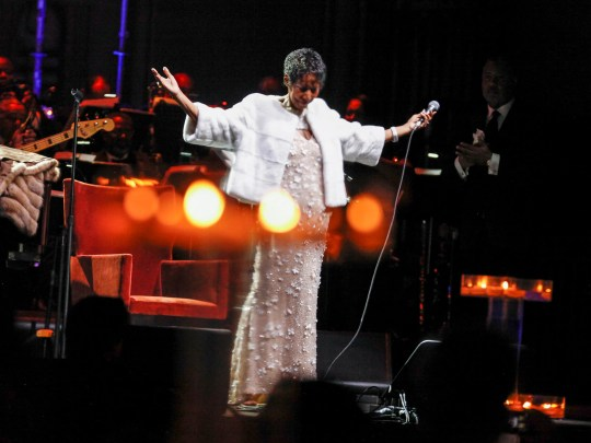 Aretha Franklin attends the Elton John AIDS Foundation's