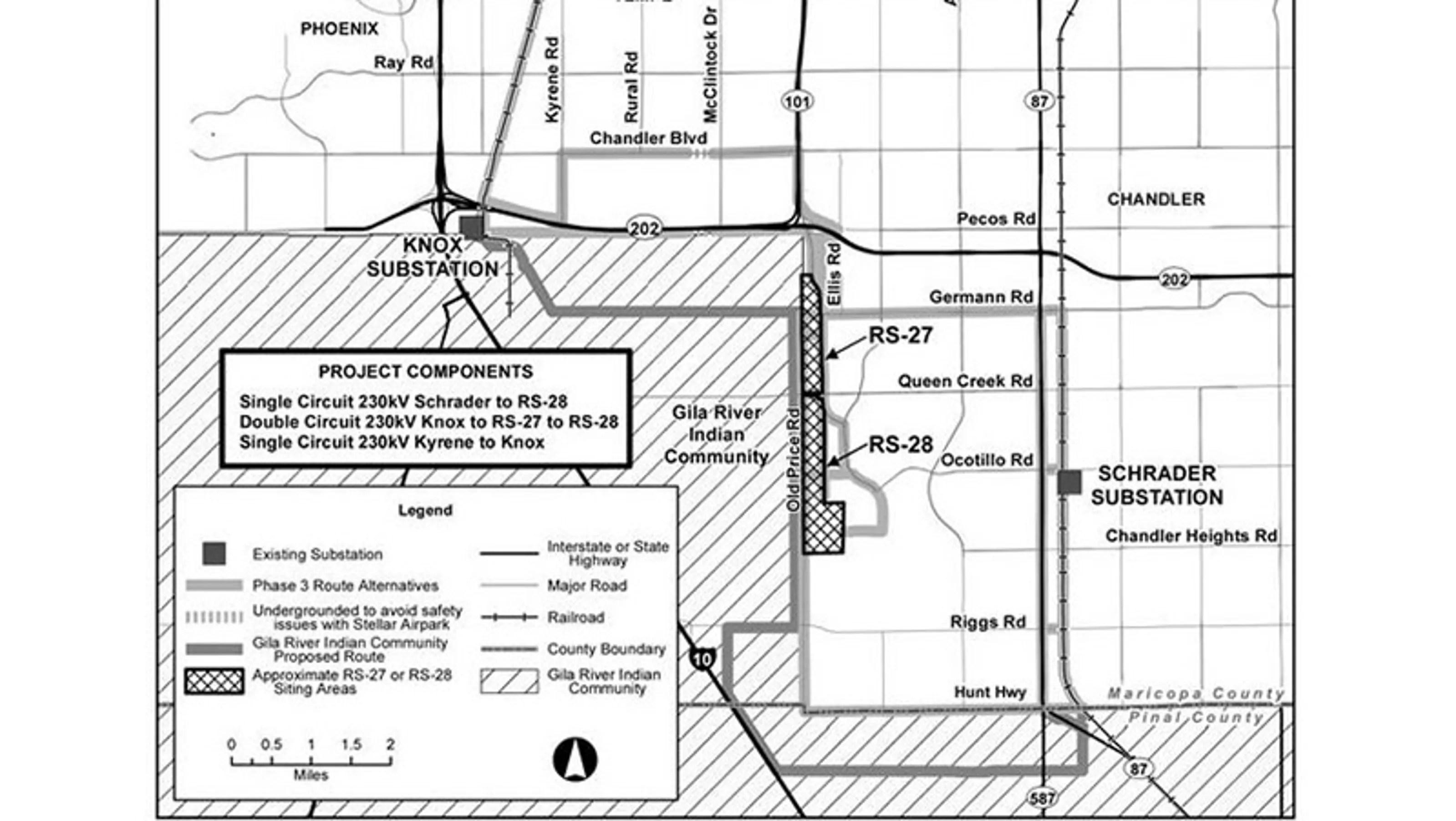 Srp Updates Chandler High Voltage Power Line Proposal