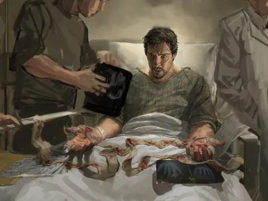 Concept art shows Stephen Strange (Benedict Cumberbatch)