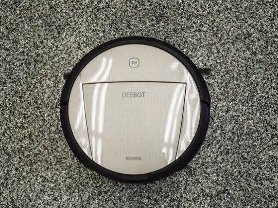 Depending on the light, the Deebot can look gray or