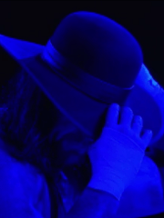 When the Undertaker removed his hat after his WrestleMania