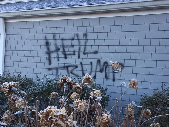 St. David's Episcopal Church in Bean Blossom was vandalized