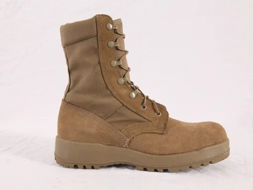 The new Army Combat Boot is coyote brown.