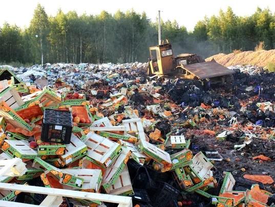 EPA RUSSIA EMBARGOED FOOD LIQUIDATION POL INTERIOR POLICIES RUS