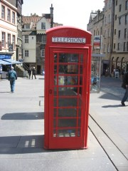 Rare is the phone booth where you handle a dirty phone and put in a coin to make a call.