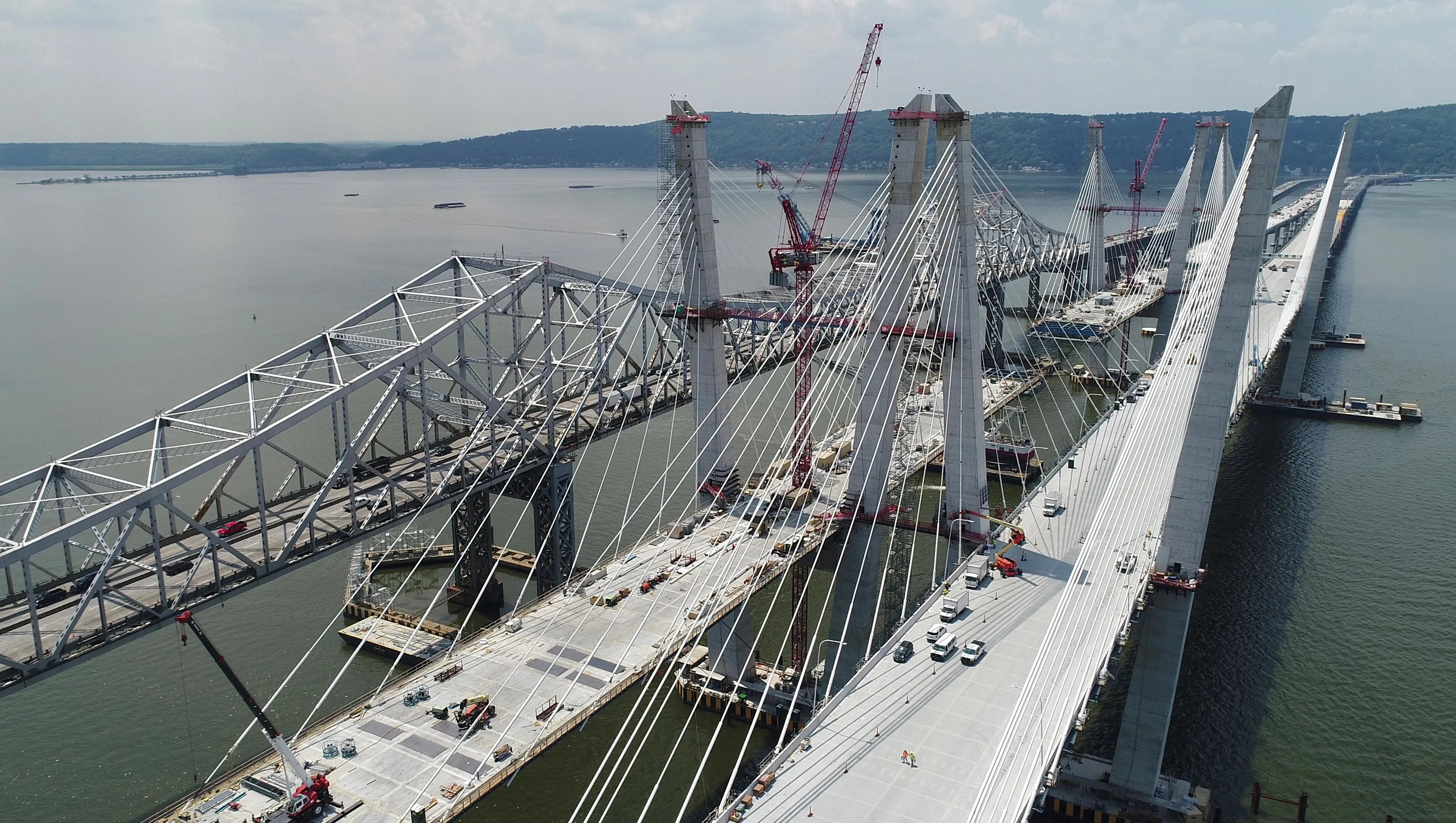 This is the west span of the Tappan Zee Bridge replacement, the Mario Cuomo Bridge in New York City, taken on July 18, 2017.