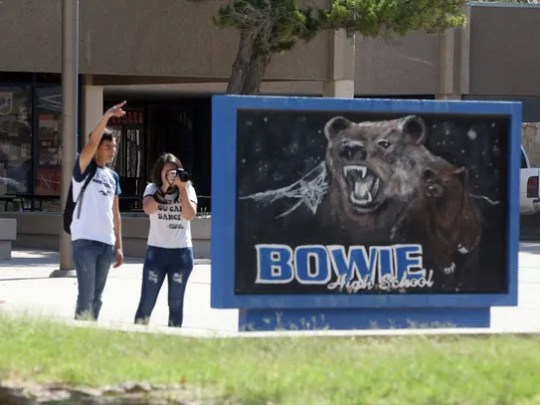 Bowie High School students Michael Juarez and Jennifer