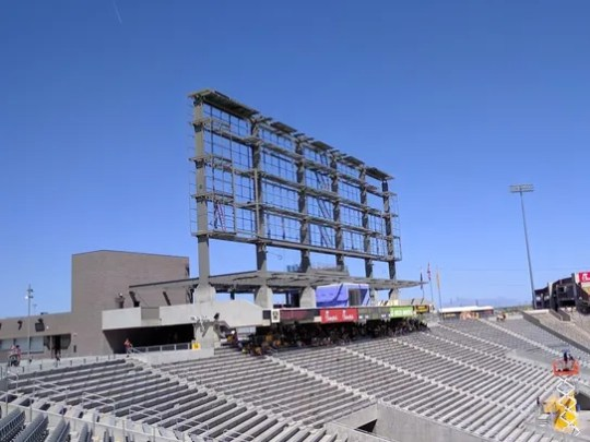 The framework for the new video board at Sun Devil