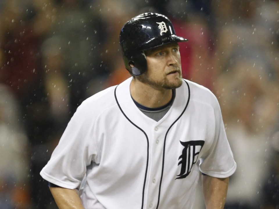 Detroit Tigers' Aubrey Huff in 2009.