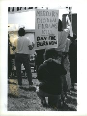 People hate the incinerator for a long time. This protest occurred in 1990.
