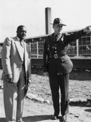Principal C.U. James in 1954 hosts a State Highway