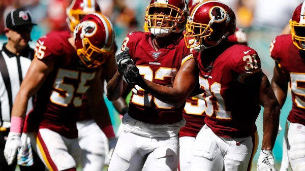 Redskins hold off Dolphins to earn first win of season after firing Jay Gruden