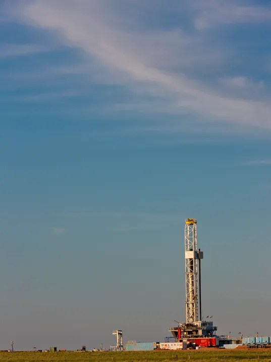 Fracked oil well in Elko County.