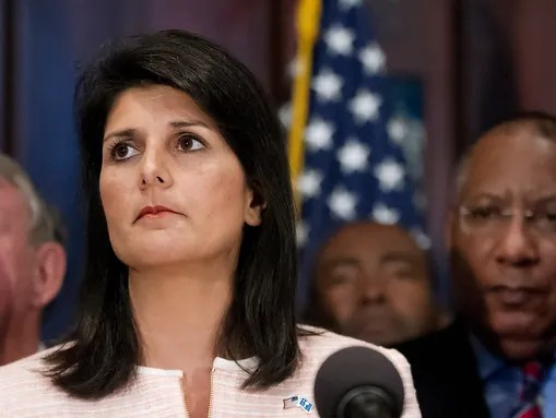 South Carolina Gov. Nikki Haley calls for state legislators