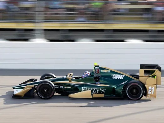 Josef Newgarden competes during the IndyCar series