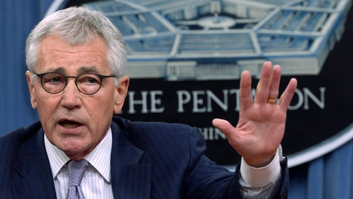 Secretary of Defense Chuck Hagel responds to a question during a news conference Aug. 21 at the Pentagon in Arlington, Va.