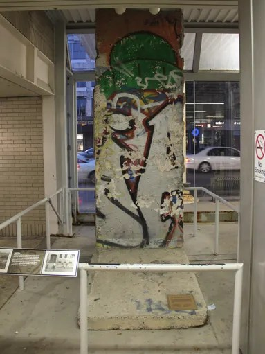 Berlin Wall exhibit - CTA Western station - front<br /><br /> Piece