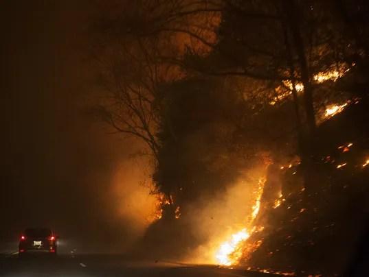 Image result for GATLINBURG FIRE 2016 NOVEMBER
